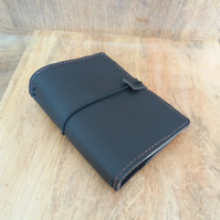 Leather A6 Travellers Notebook Cover in Dark Brown