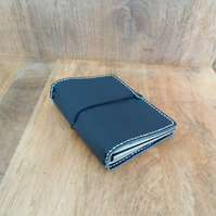 Leather A6 Travellers Notebook Cover in Navy Blue