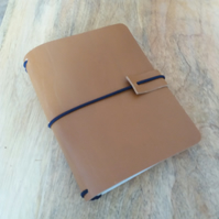 A6 Travellers Notebook Cover in Tan Leather