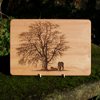 Laser Engraved Wooden Plaque - Just Resting!