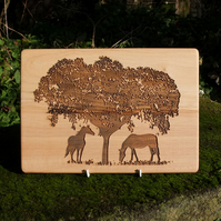 Laser Engraved Wooden Plaque - Underneath the Blossom Tree