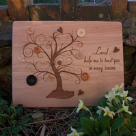 Laser Engraved Wooden Plaque - Prayer from the heart 'Lord help me to trust you'