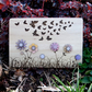 Laser Engraved Wooden Plaque - Butterflies and Flowers