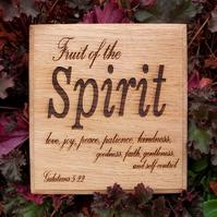 Laser Engraved Oak Wooden Plaque - Inspirational
