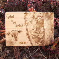 Laser Engraved Wooden Plaque - Psalm 23