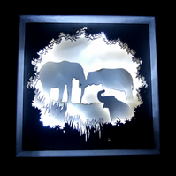 3D Light Picture - Elephants Never Forget