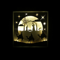 3D Light Picture - Nativity
