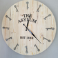 Large hand-made wall clock