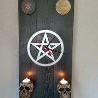 Unusual Pagan,Wiccan.Occult wall clock.