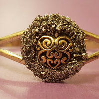 BURIED TREASURE BANGLE No2 - FANCY GOLDEN HEART