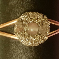 BURIED TREASURE BANGLE No4 - ROSE QUARTZ
