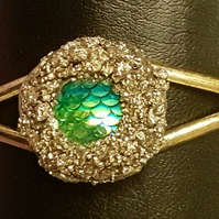 BURIED TREASURE BANGLE No3 - GREEN DRAGON SCALE