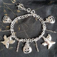 Haunted chains Halloween Charm Bracelet