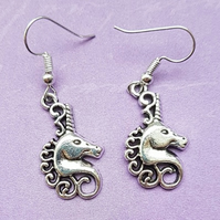 Beautiful Unicorn head charm Earrings