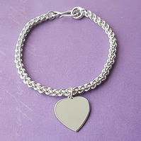 Handmade Jens Pind bracelet with Heart charm - Made to Order