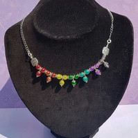Gorgeous Rainbow Drops (Chakra Colours) necklace No1