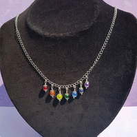 Gorgeous Rainbow Drops (Chakra Colours) Necklace No2