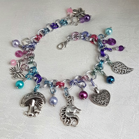 Unusual Unicorn Charm Bracelet