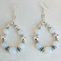 Fabulous Moonstone bead Earrings