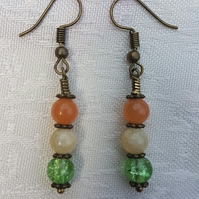 Gorgeous Orange Spectrum Earrings - Dark tone No9