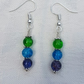 Gorgeous Green Spectrum earrings - Silver tones No17