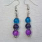 Gorgeous Blue Spectrum Earrings - Silver tone No20