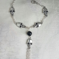 Curse of the Necromancer Gothic Skull Bracelet