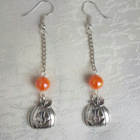 Dangly Pumpkin Earrings