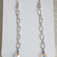 Gorgeous Chain and Crystal Earrings.