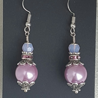 Gorgeous Pinky lilac Bauble Earrings