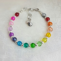 Gorgeous Rainbow Bead Bracelet - Design 1