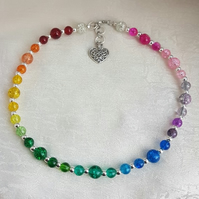 Beautiful Rainbow Bead Choker Necklace - Design 2