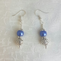 Gorgeous Royal Blue Magnetic Haematite and Fancy Bead Earrings.
