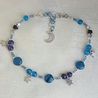 Gorgeous Night Sky Anklet
