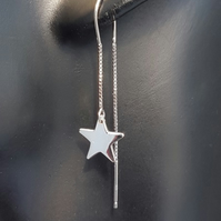 Gorgeous Sterling Silver Star Ear Threader Earrings