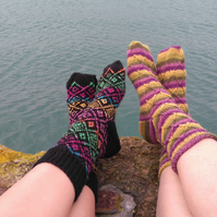 Knitting pattern for two pairs of socks - digital pattern ckc046