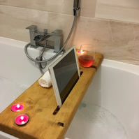 Bath Board Caddy handmade using recycled timber