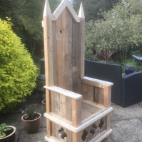 Throne style Garden Chair or Storytelling Chair