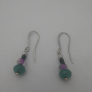Silver and adventurine every day earrings.