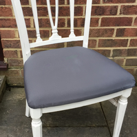 Gorgeous Georgian Dining, Living, Bedroom Chair Painted in Antique White Colour