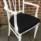 Stunning Georgian Living, Dining, Bedroom chair painted in Antique White
