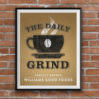Personalised Coffee Print, Personalised Family print, Coffee, A4 print