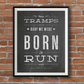 Bruce Springsteen, Born To Run, Blackboard Effect Typography Art, A4