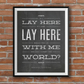 Snow Patrol, Chasing Cars, Lyric Inspired Print, Blackboard Effect Art, A4