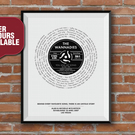 Favourite Song Print, Vinyl Record Print, Record Lyric Print, First Dance, A4