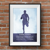 Marathon Runner, Personalised Print for Runners, A4