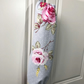Shabby Chic Carrier Bag Holder - Clarke & Clarke English Rose Grey Fabric
