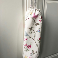 Shabby Chic Carrier Bag Holder - Clarke & Clarke Bird Trail Fabric