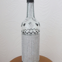 Wedding Table Centrepiece Decorated Wine Bottle