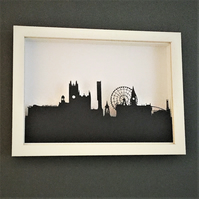 Manchester skyline silhouette picture